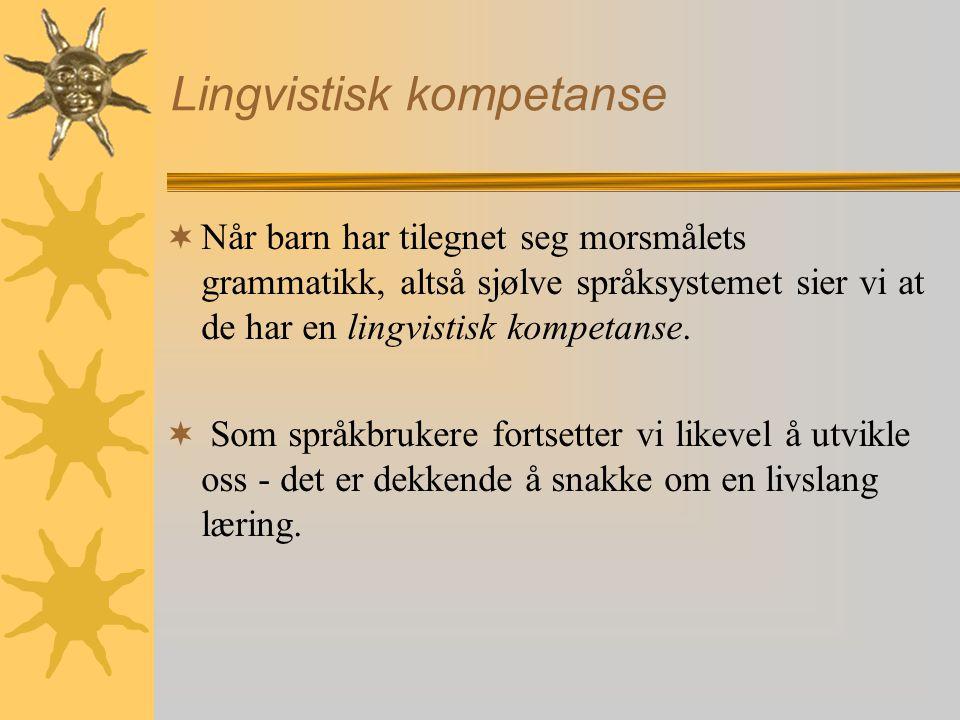 Lingvistisk kompetanse