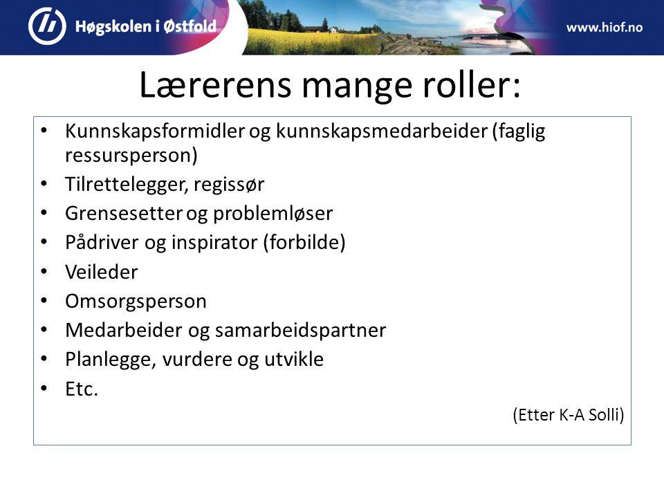 Lærerens mange roller: