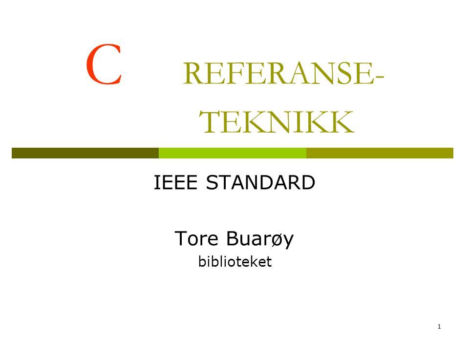 IEEE STANDARD Tore Buarøy biblioteket