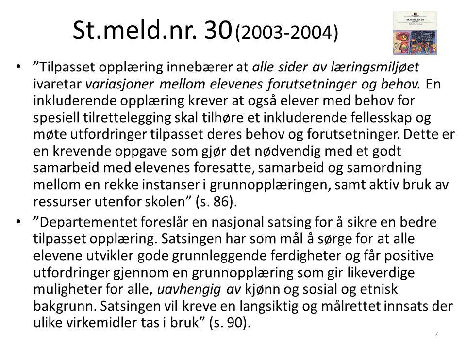 St.meld.nr. 30 (2003-2004)
