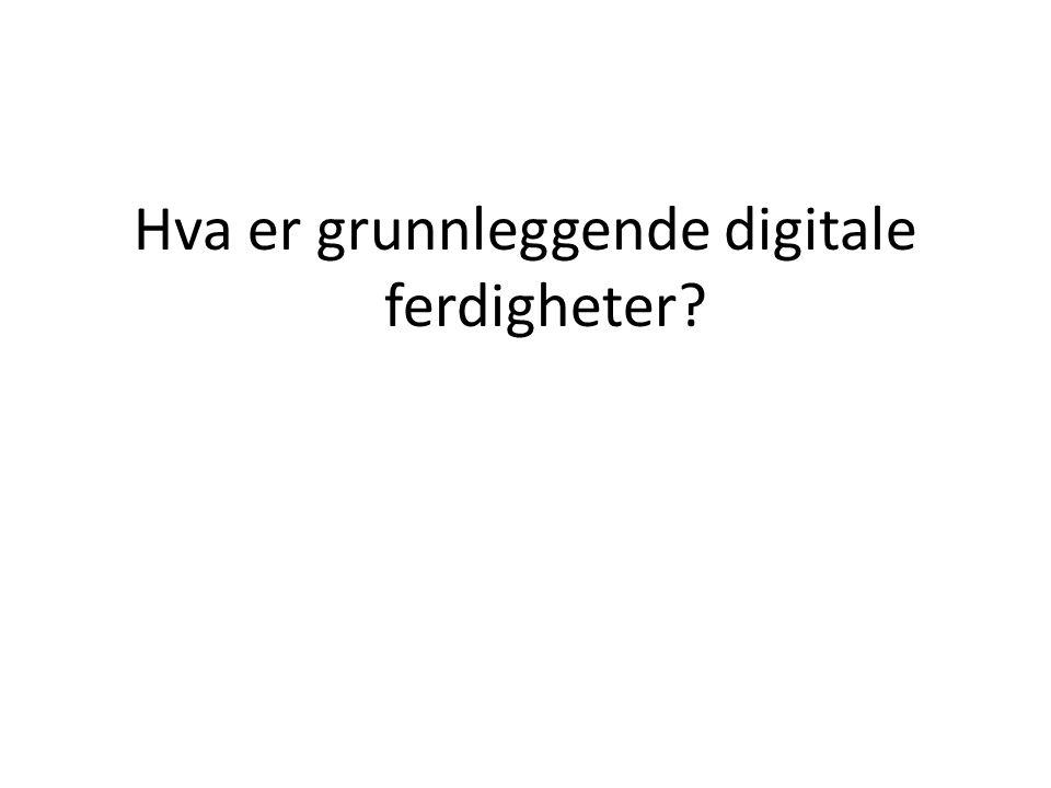 Hva er grunnleggende digitale ferdigheter