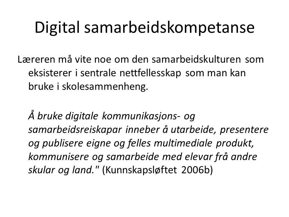 Digital samarbeidskompetanse