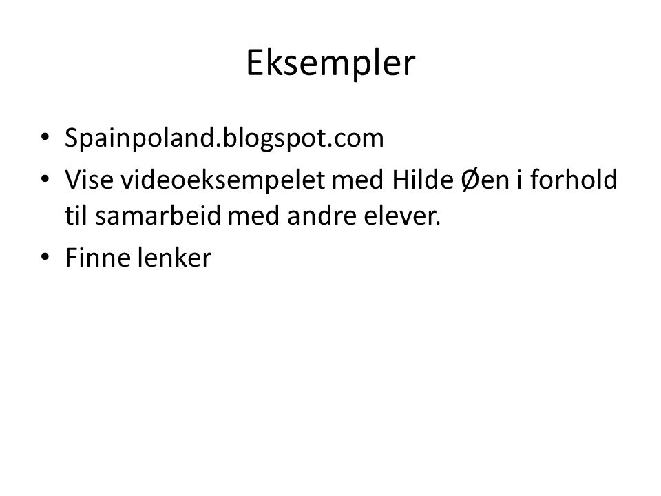 Eksempler Spainpoland.blogspot.com