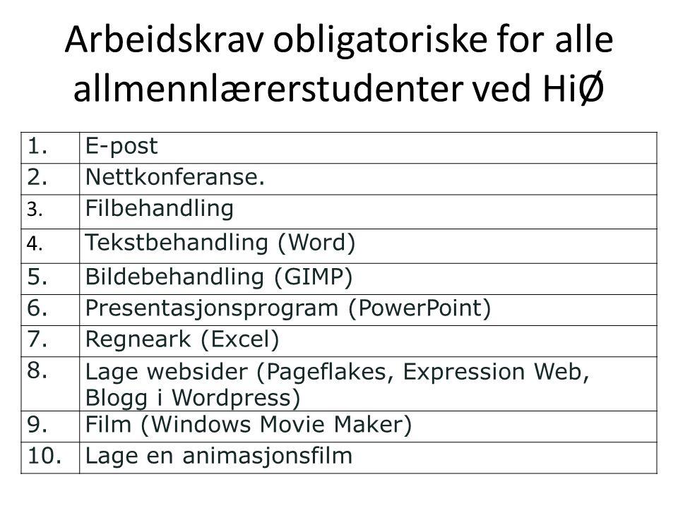 Arbeidskrav obligatoriske for alle allmennlærerstudenter ved HiØ