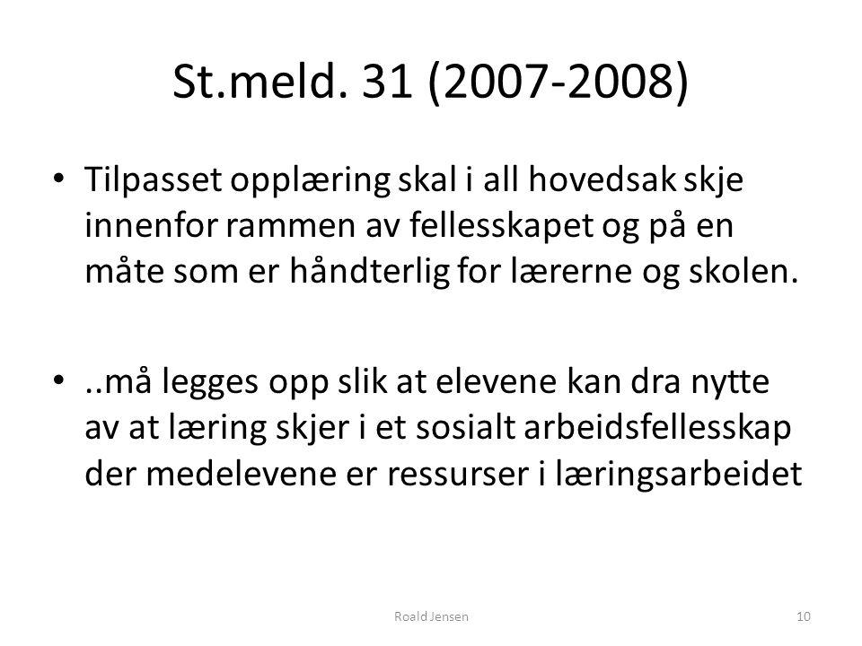 St.meld. 31 (2007-2008)