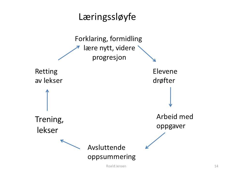 Læringssløyfe Trening, lekser Forklaring, formidling lære nytt, videre