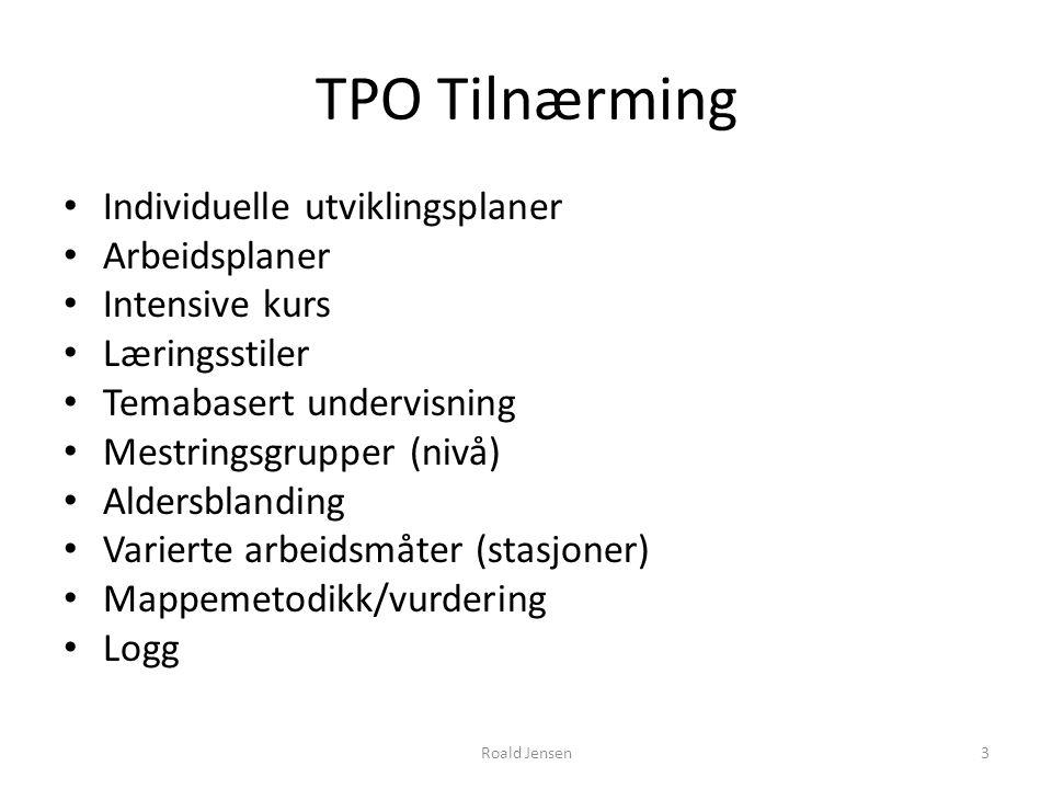 TPO Tilnærming Individuelle utviklingsplaner Arbeidsplaner