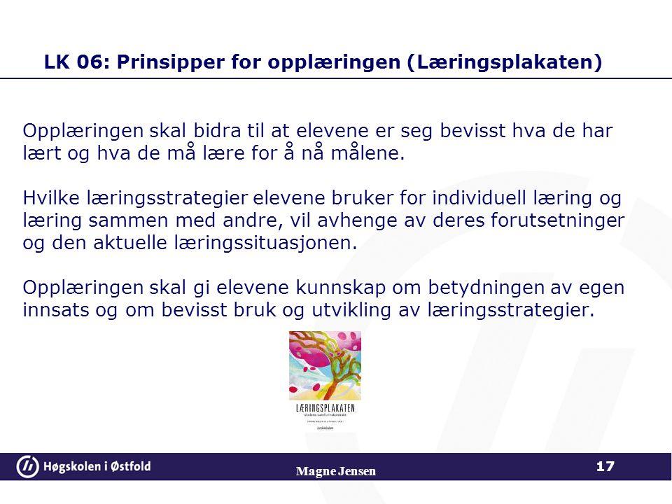 LK 06: Prinsipper for opplæringen (Læringsplakaten)