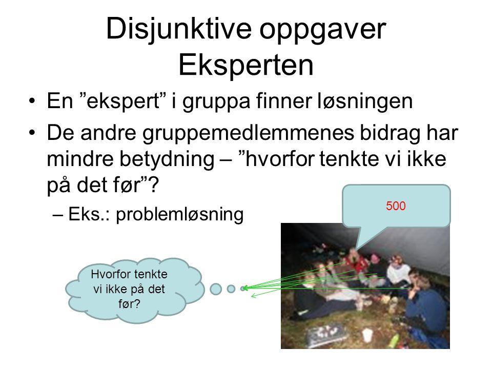 Disjunktive oppgaver Eksperten