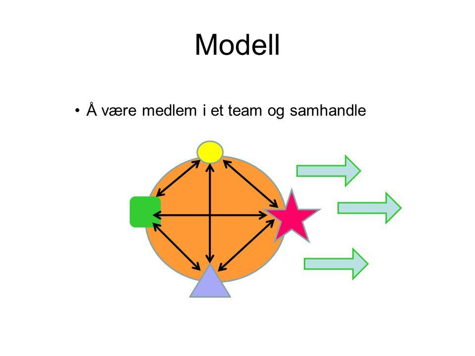 Modell Å være medlem i et team og samhandle