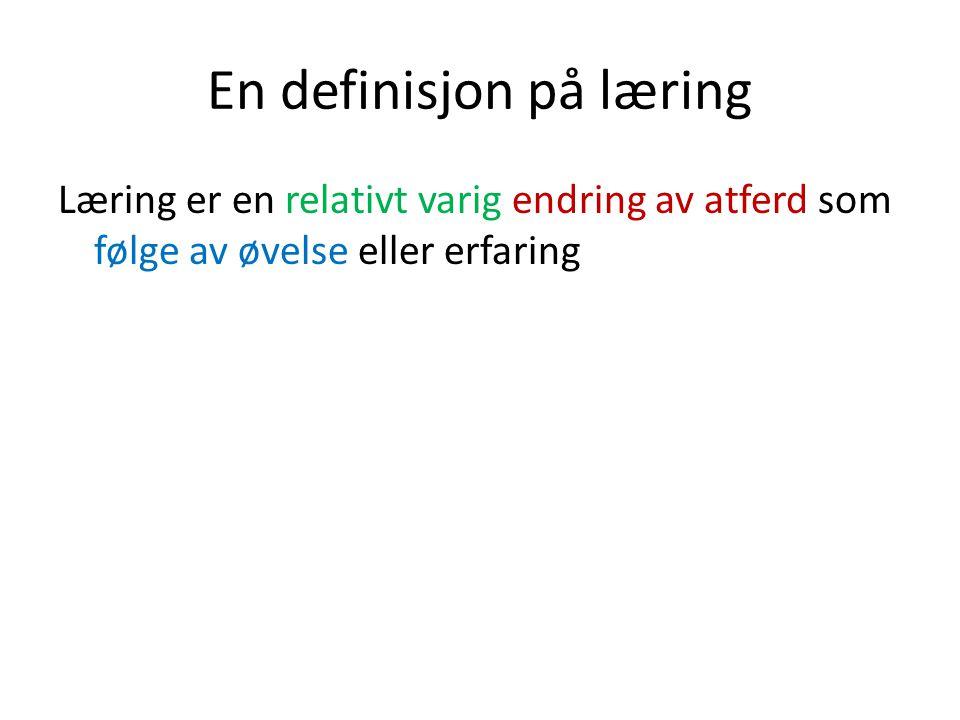 En definisjon på læring