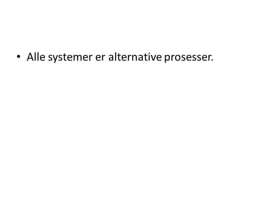 Alle systemer er alternative prosesser.