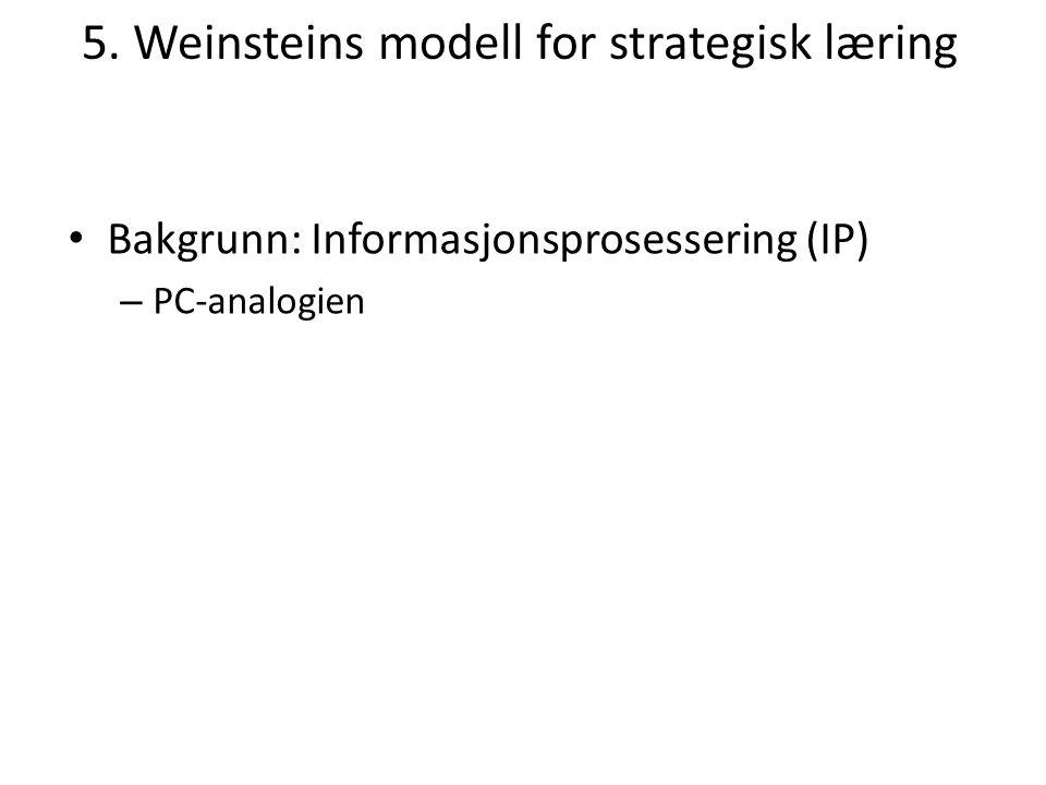 5. Weinsteins modell for strategisk læring