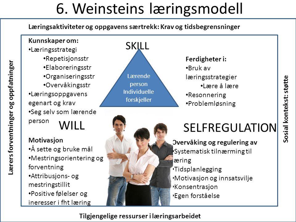 6. Weinsteins læringsmodell