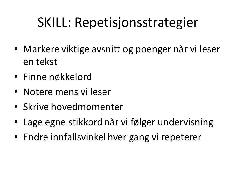SKILL: Repetisjonsstrategier