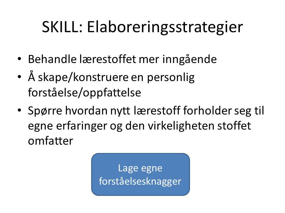 SKILL: Elaboreringsstrategier