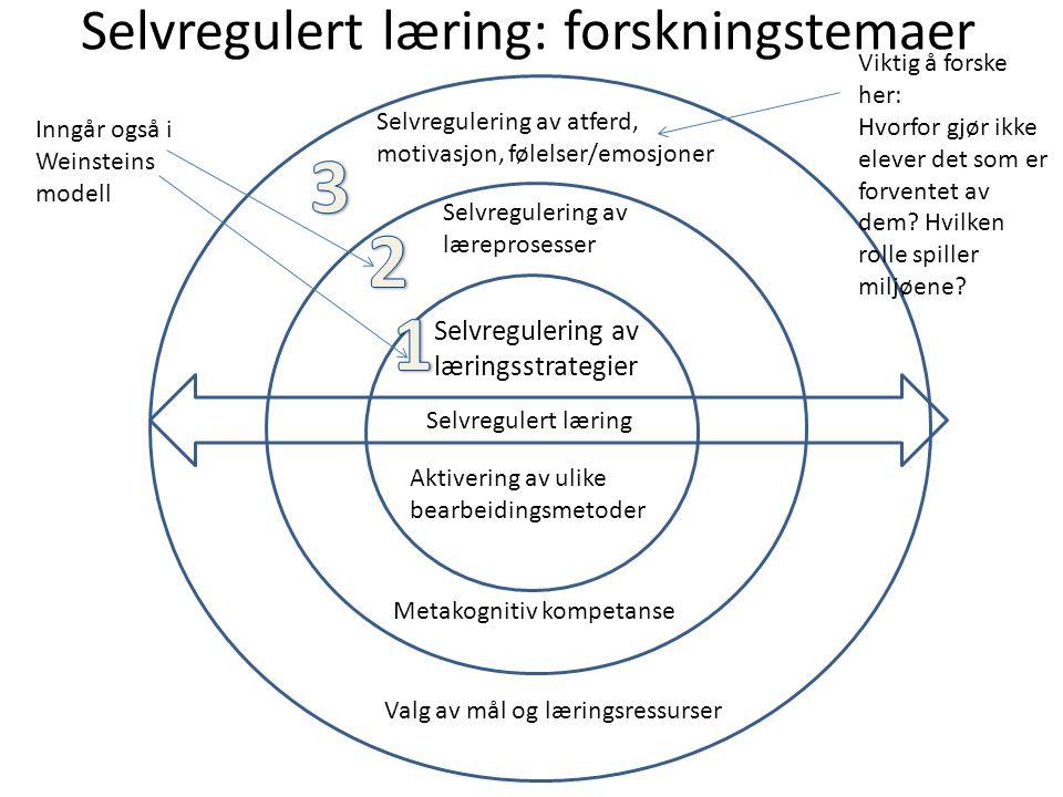 Selvregulert læring: forskningstemaer