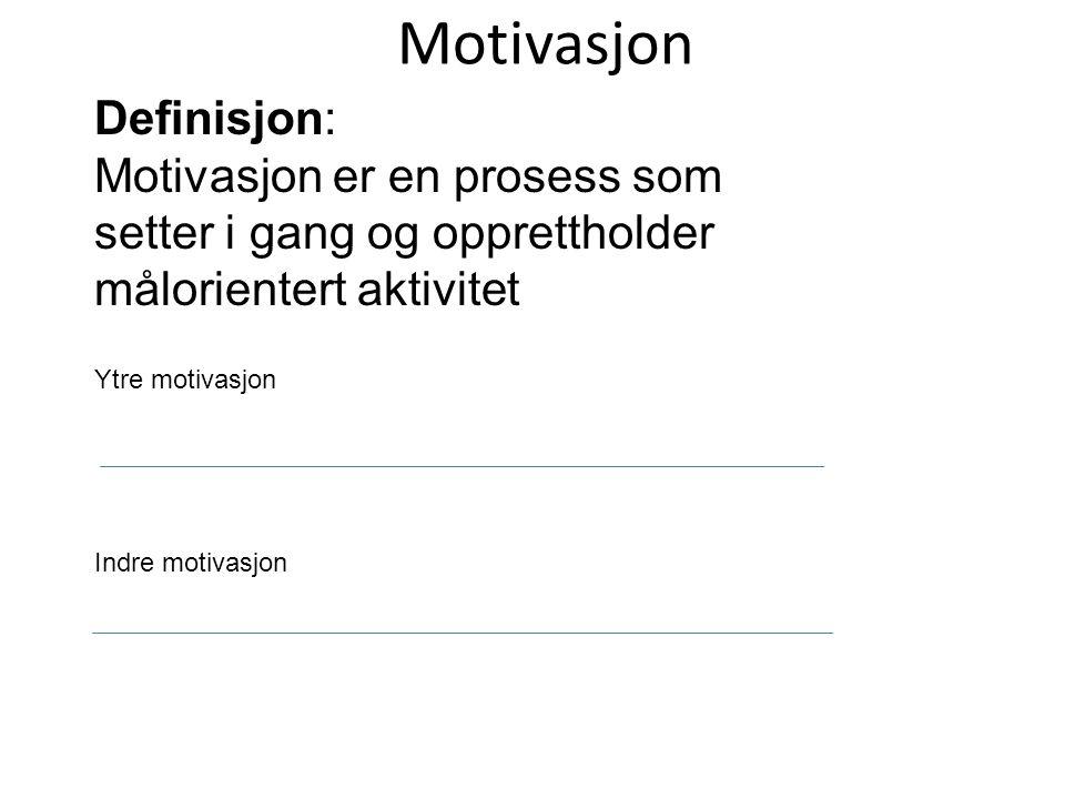 Motivasjon Definisjon:
