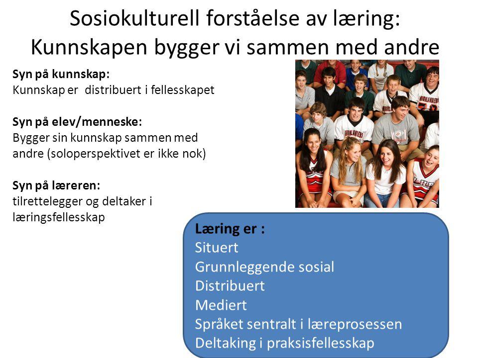 Sosiokulturell forståelse av læring: Kunnskapen bygger vi sammen med andre