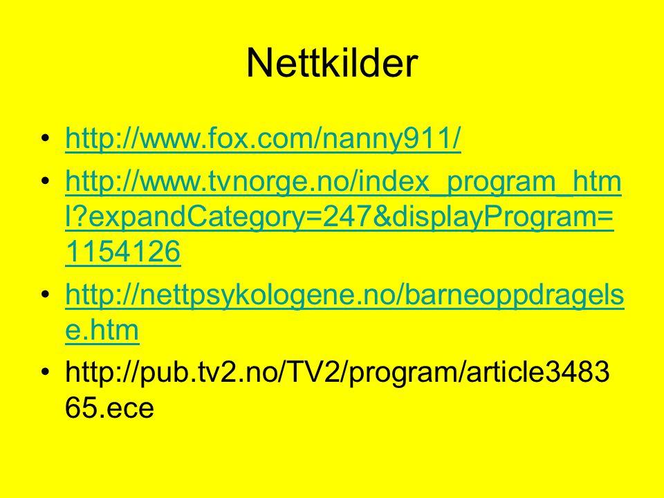 Nettkilder http://www.fox.com/nanny911/