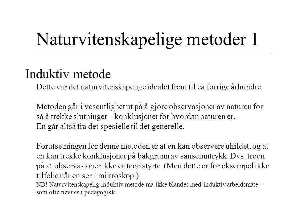 Naturvitenskapelige metoder 1