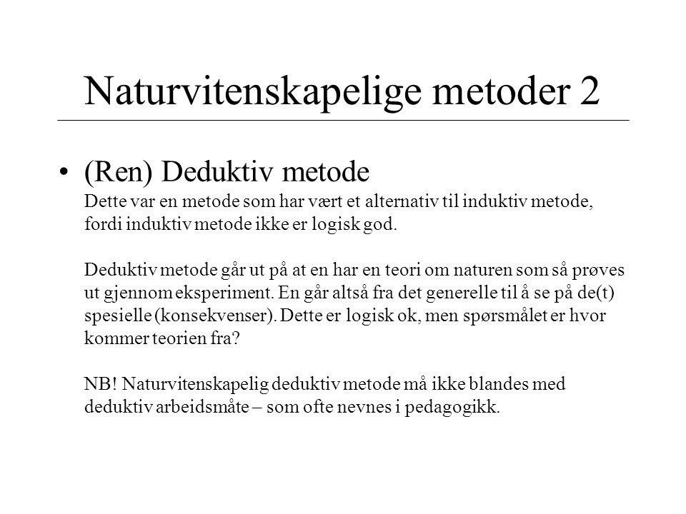 Naturvitenskapelige metoder 2