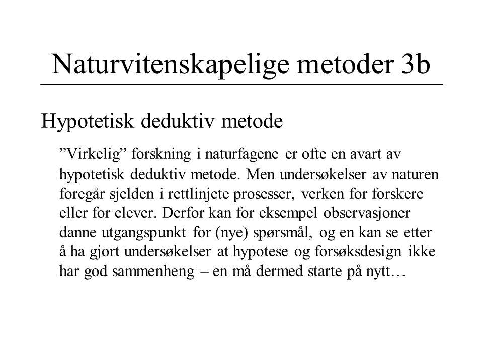 Naturvitenskapelige metoder 3b