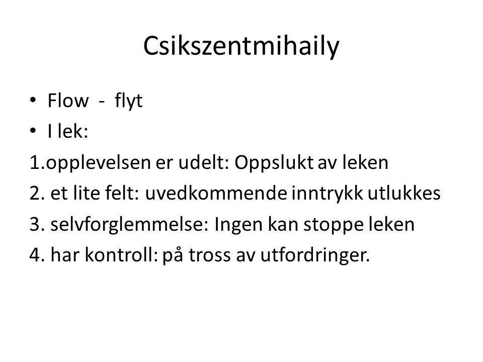 Csikszentmihaily Flow - flyt I lek: