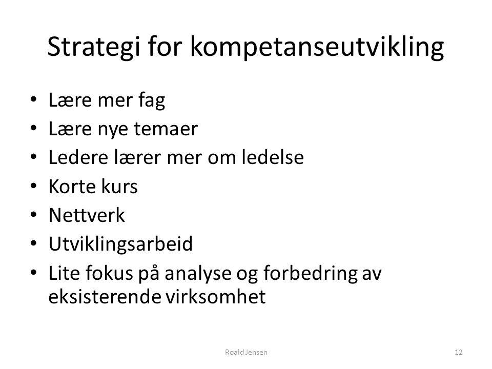 Strategi for kompetanseutvikling