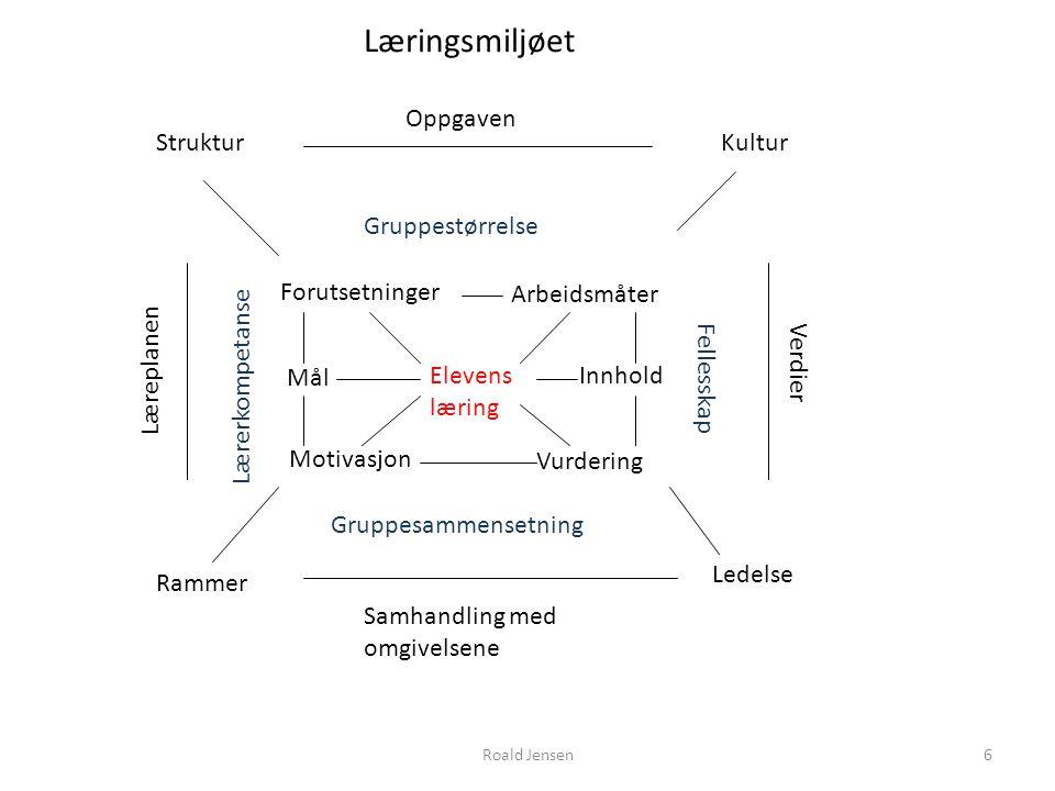 Læringsmiljøet Oppgaven Struktur Kultur Gruppestørrelse Forutsetninger