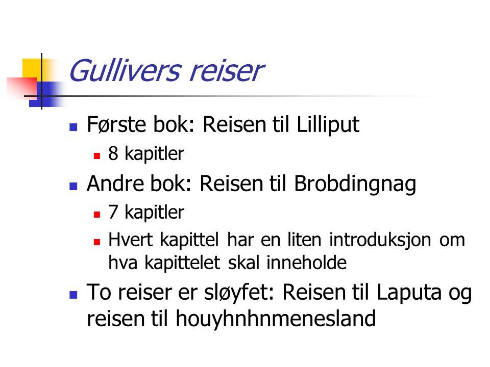Gullivers reiser Første bok: Reisen til Lilliput
