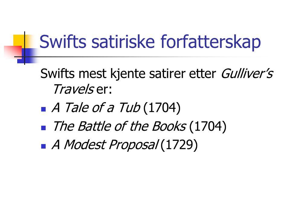 Swifts satiriske forfatterskap