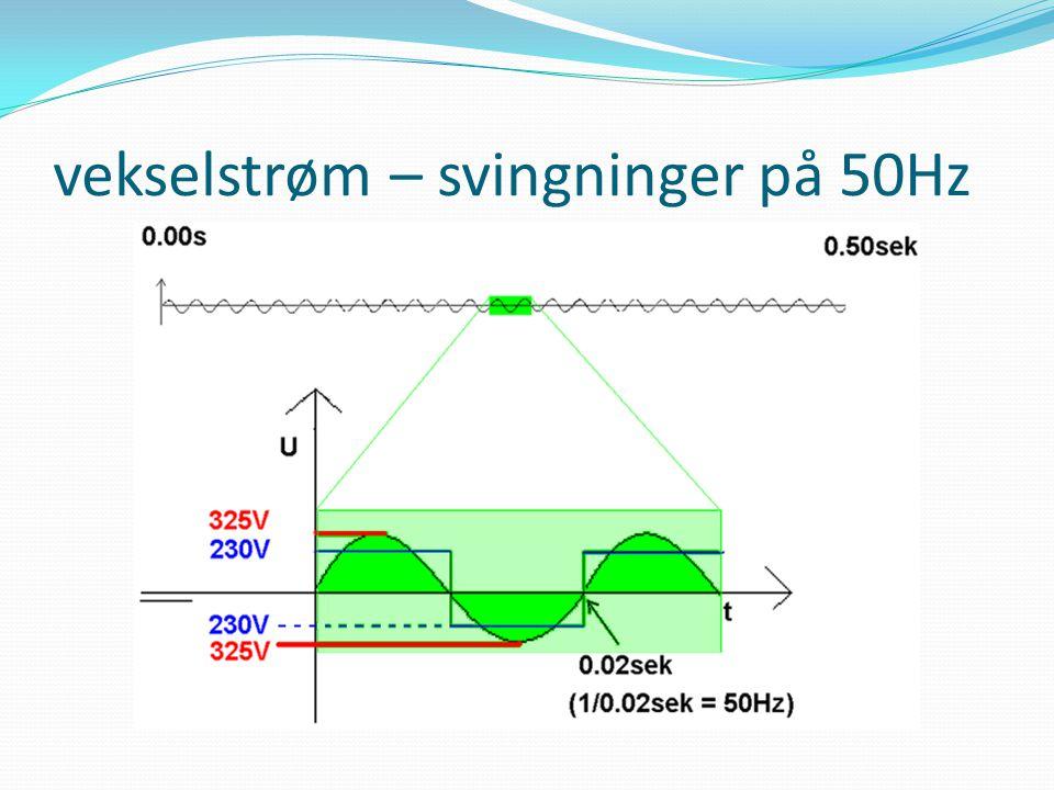 vekselstrøm – svingninger på 50Hz