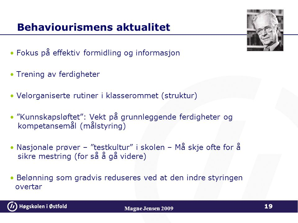 Behaviourismens aktualitet