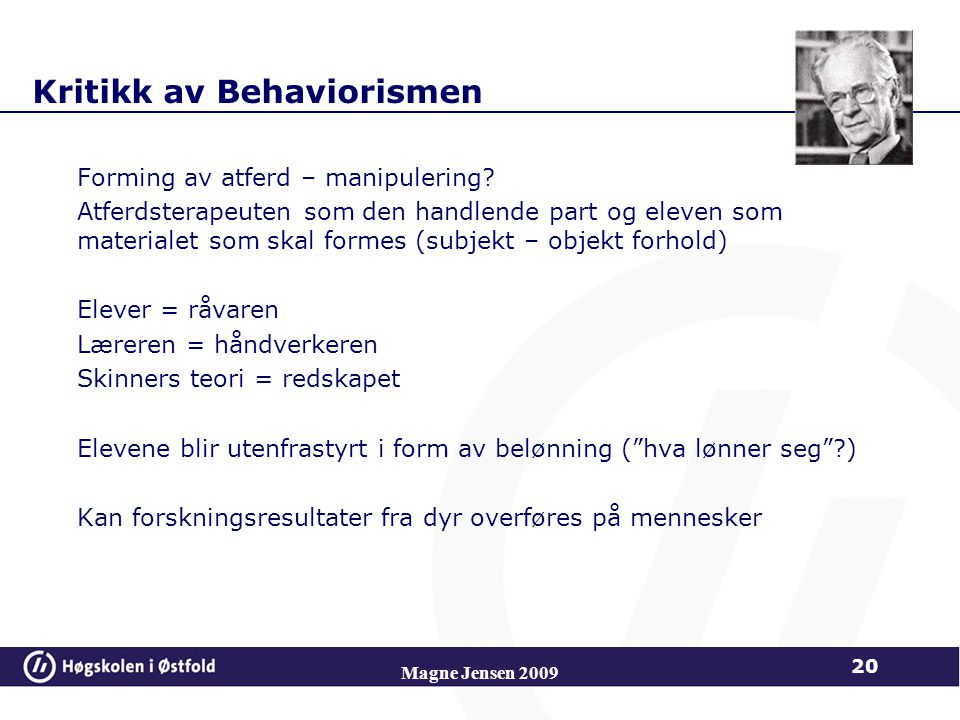 Kritikk av Behaviorismen