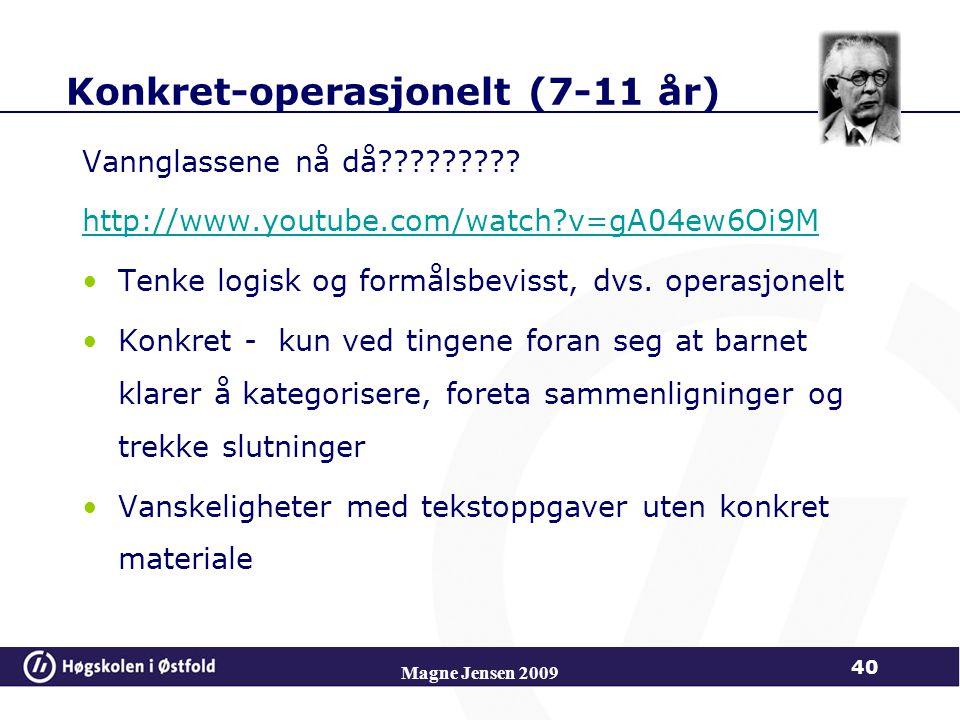 Konkret-operasjonelt (7-11 år)