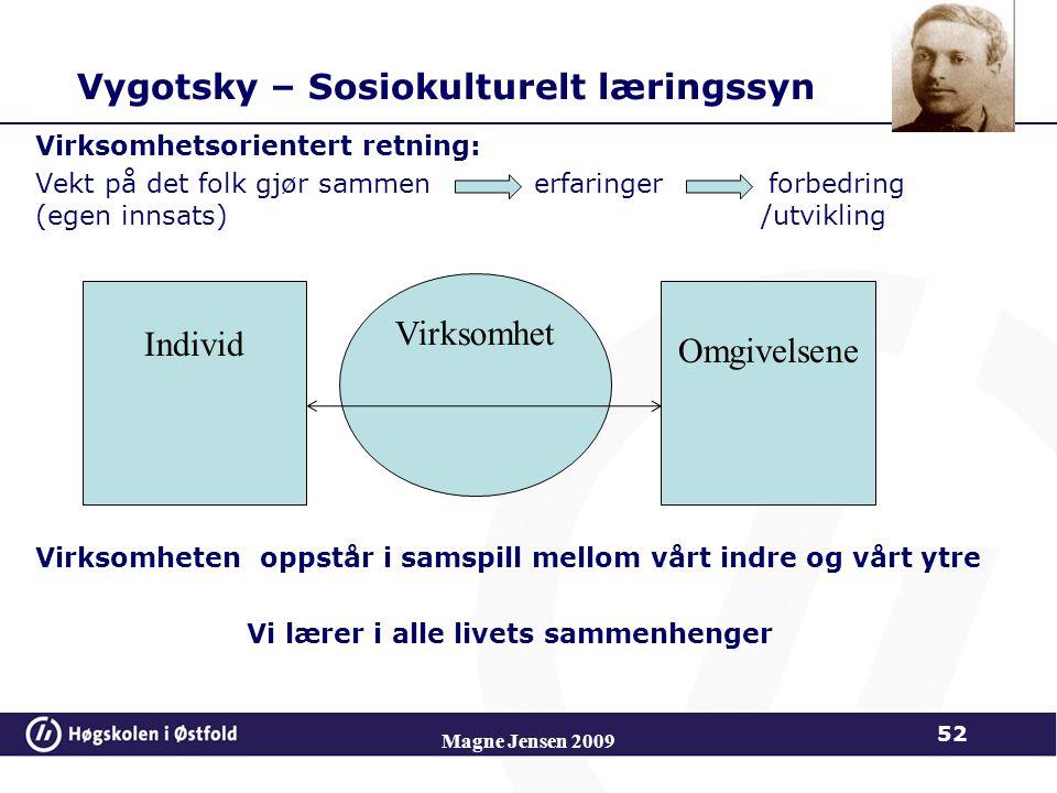 Vygotsky – Sosiokulturelt læringssyn