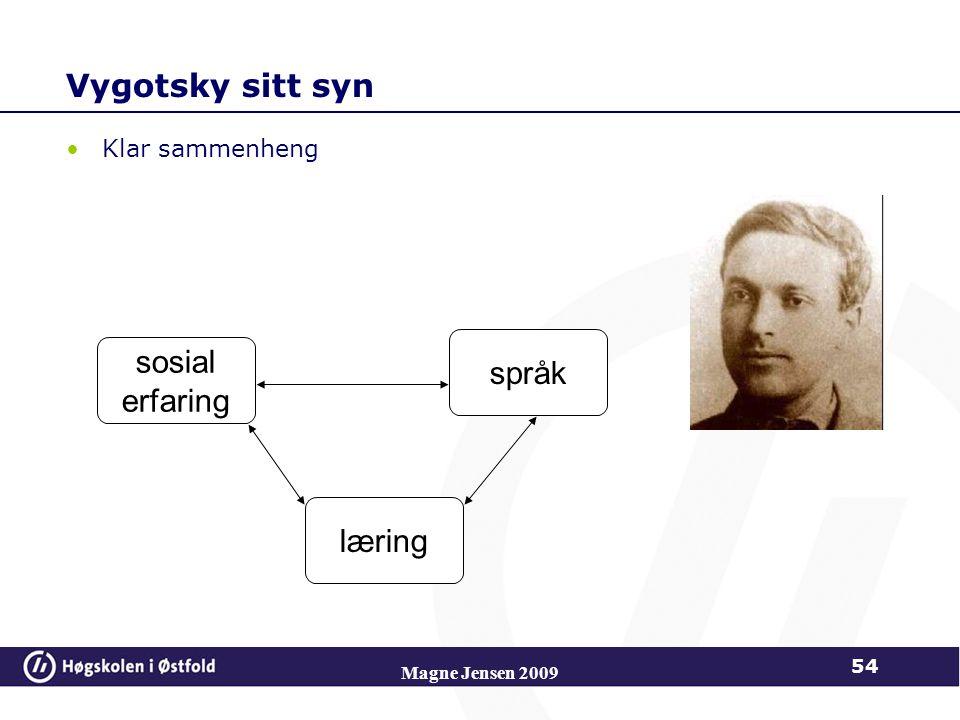 Vygotsky sitt syn sosial språk erfaring læring Klar sammenheng