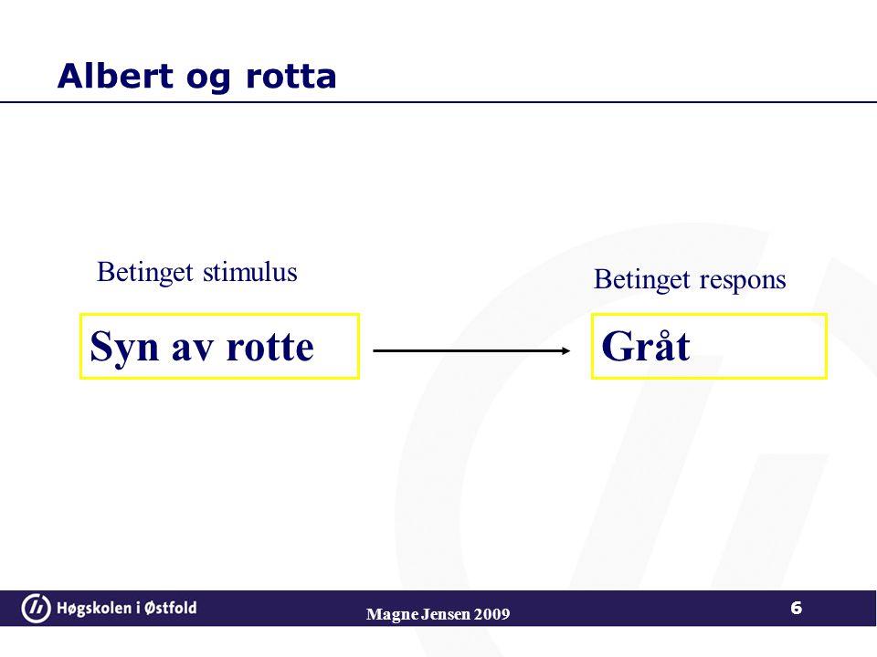 Syn av rotte Gråt Albert og rotta Betinget stimulus Betinget respons