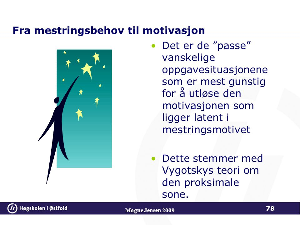 Fra mestringsbehov til motivasjon