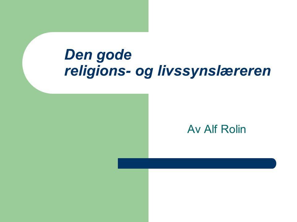 Den gode religions- og livssynslæreren
