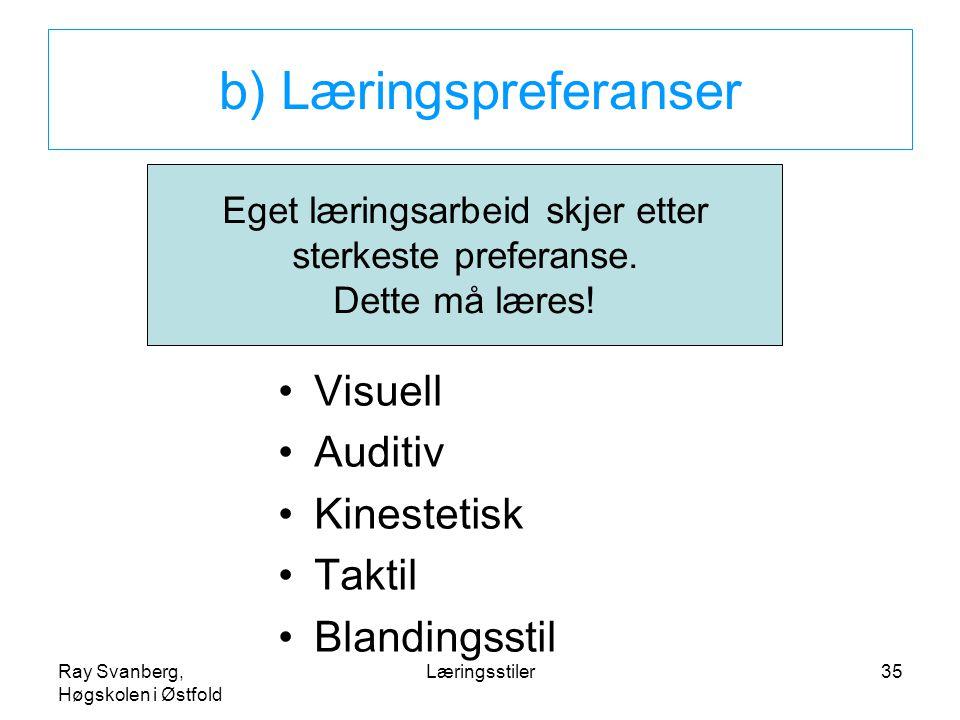 b) Læringspreferanser