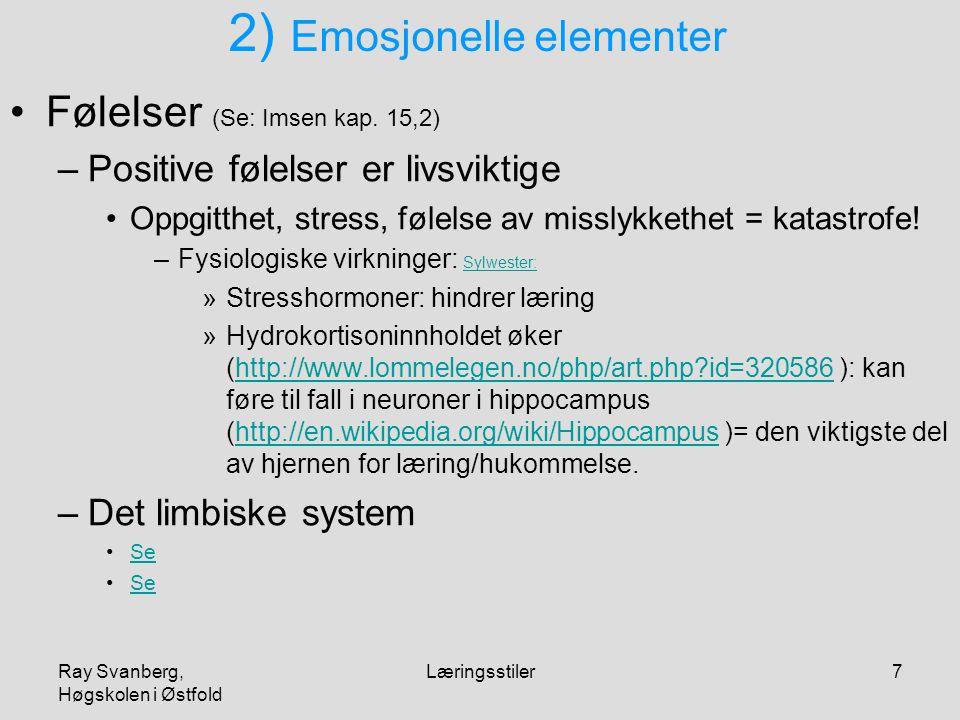 2) Emosjonelle elementer
