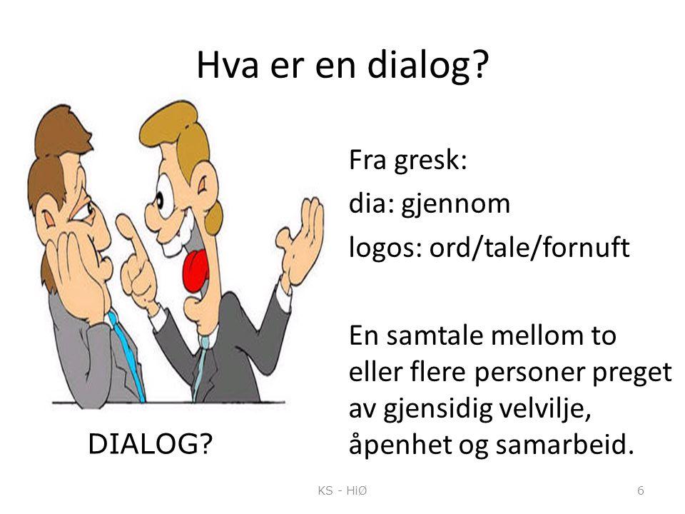 Hva er en dialog