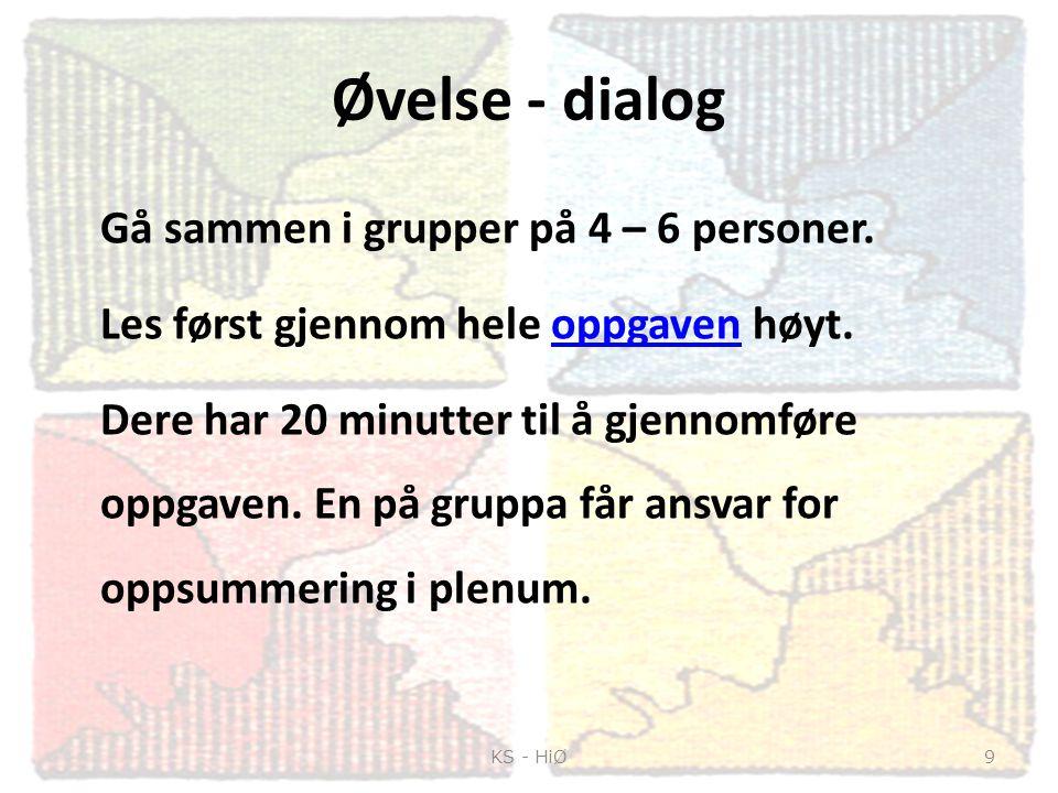 Øvelse - dialog