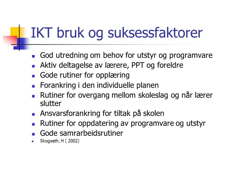 IKT bruk og suksessfaktorer
