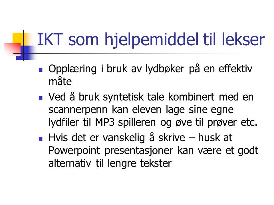 IKT som hjelpemiddel til lekser