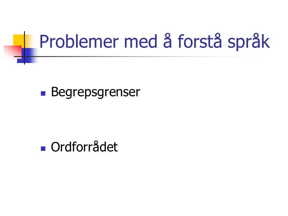 Problemer med å forstå språk
