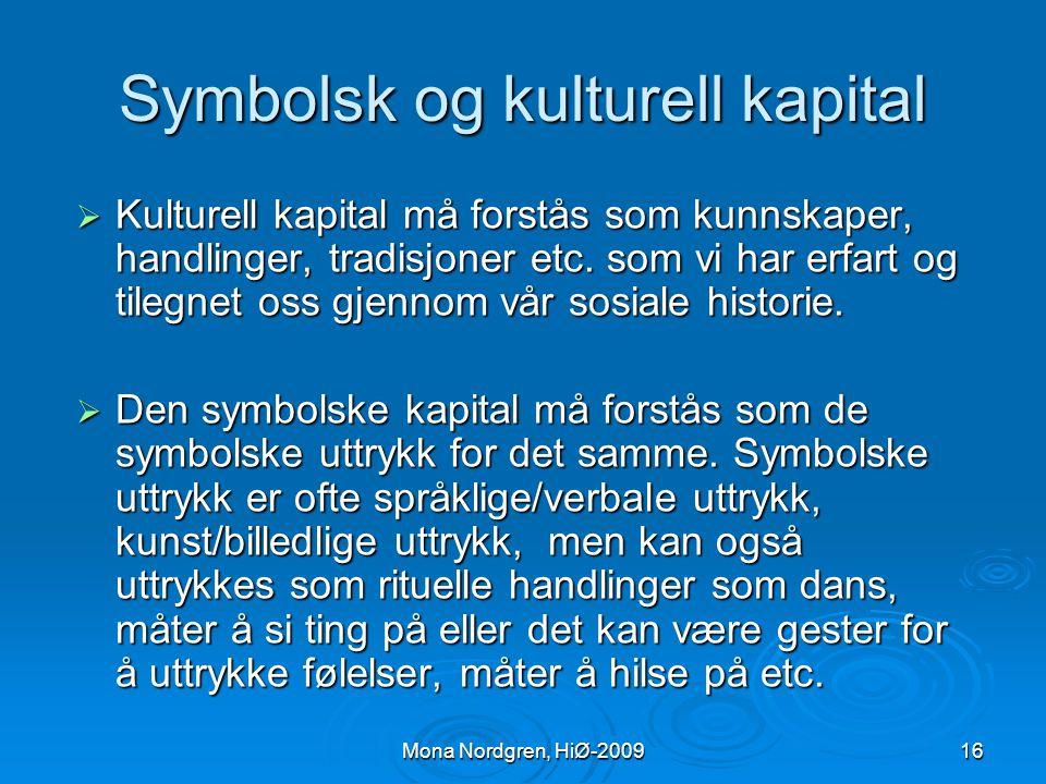 Symbolsk og kulturell kapital