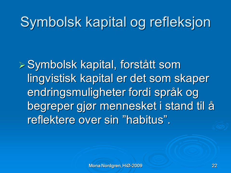 Symbolsk kapital og refleksjon